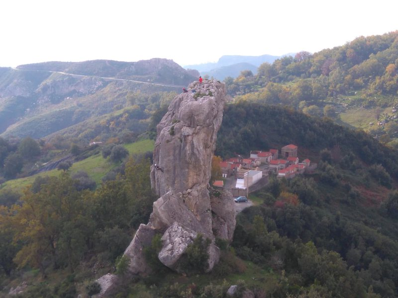 ROCK CLIMBING at Rocca di Sant' Ippolito