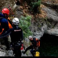 terza cascata, discesa in corda
